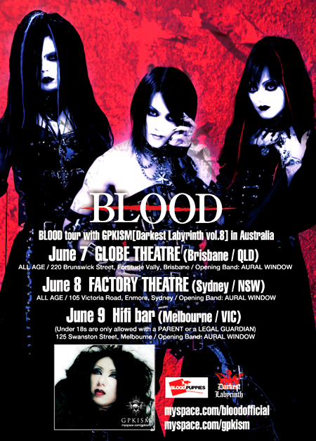 BLOOD Tour info