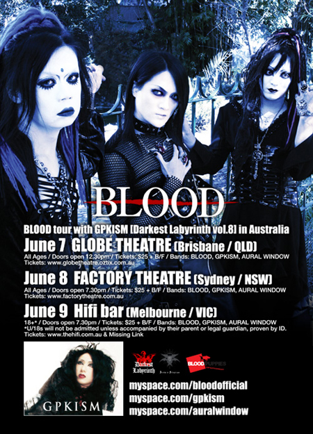 BLOOD on tour with GPKISM banner